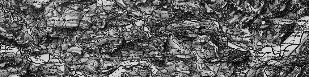 Old map of Allt Dolanog in 1899