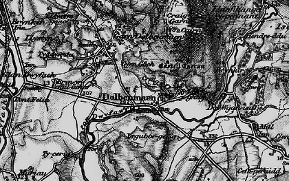Old map of Ystumcegid-isaf in 1899