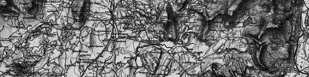 Old map of Dolbenmaen in 1899