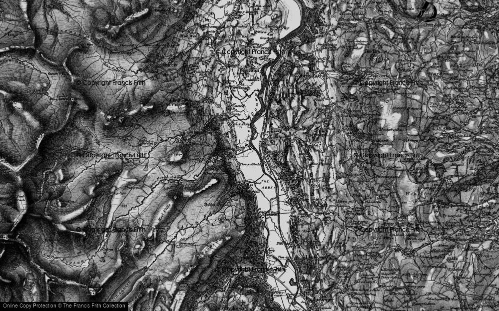 Old Map of Dolgarrog, 1899 in 1899