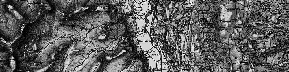 Old map of Dolgarrog in 1899