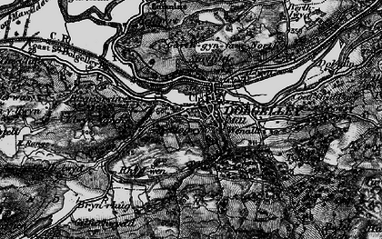 Old map of Dolgellau in 1899