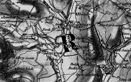 Old map of Alltmaen in 1898