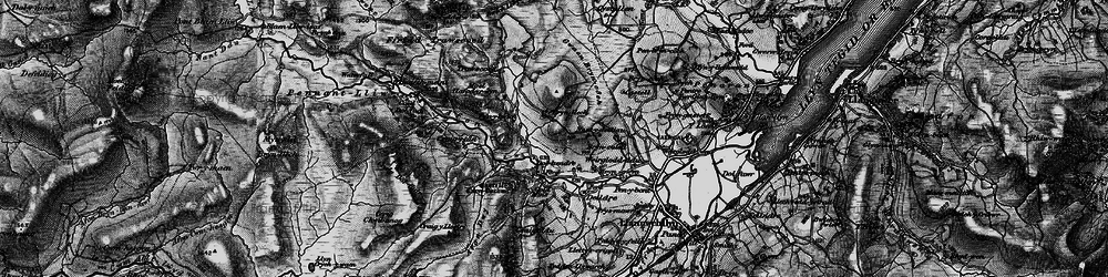 Old map of Afon Lliw in 1899