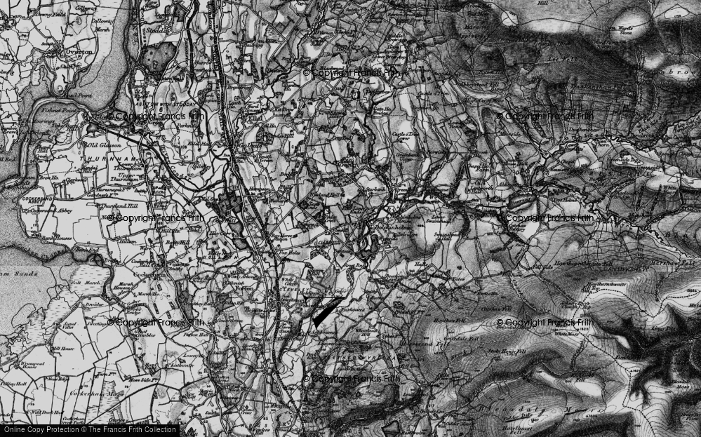 Old Map of Dolphinholme, 1896 in 1896