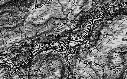 Old map of Afon Lledr in 1899