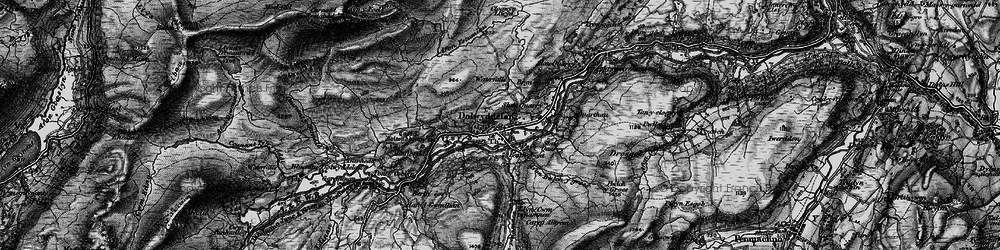 Old map of Afon Bwlch y Groes in 1899