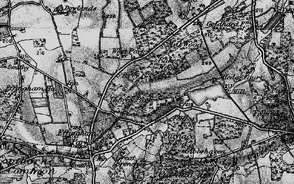 Old map of Baker's Wood in 1895