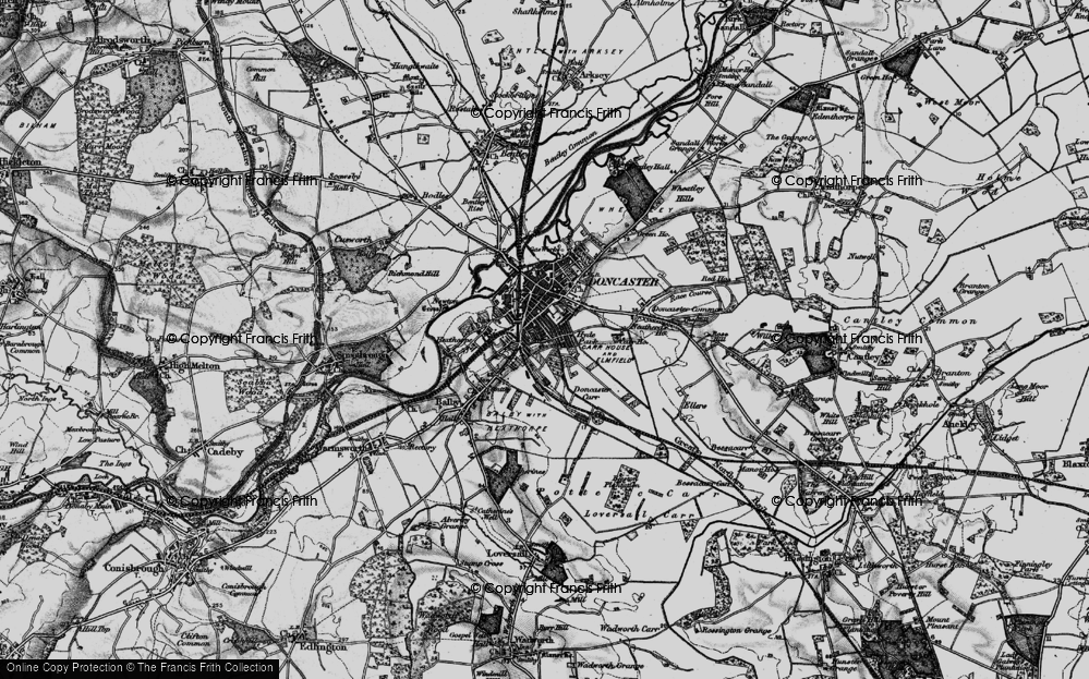 Old Map of Doncaster, 1895 in 1895