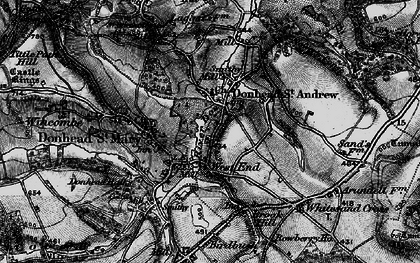 Old map of Donhead St Andrew in 1895