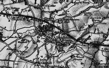 Old map of Donington in 1899