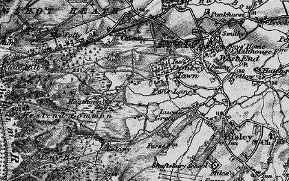 Old map of Donkey Town in 1896