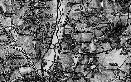 Old map of Donnington in 1896