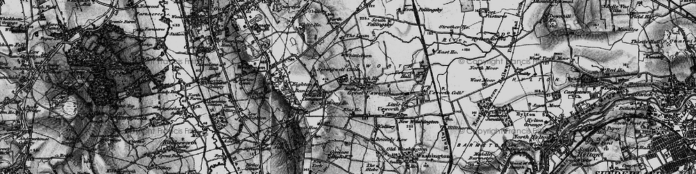 Old map of Leam, The in 1898