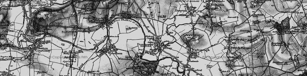Old map of Dorchester in 1895