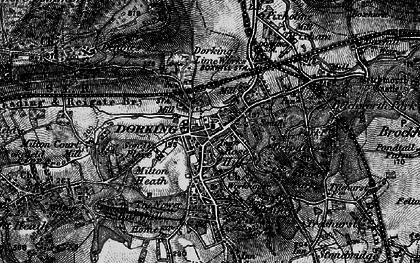 Old map of Dorking in 1896