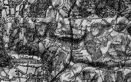 Old map of Dormans Park in 1895