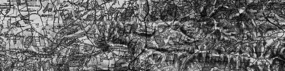 Old map of Wilderwick Ho in 1895