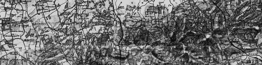 Old map of Dormansland in 1895