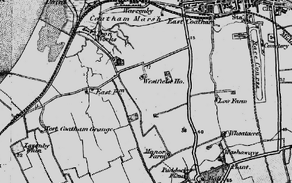 Old map of Dormanstown in 1898