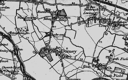 Old map of Dorney in 1896