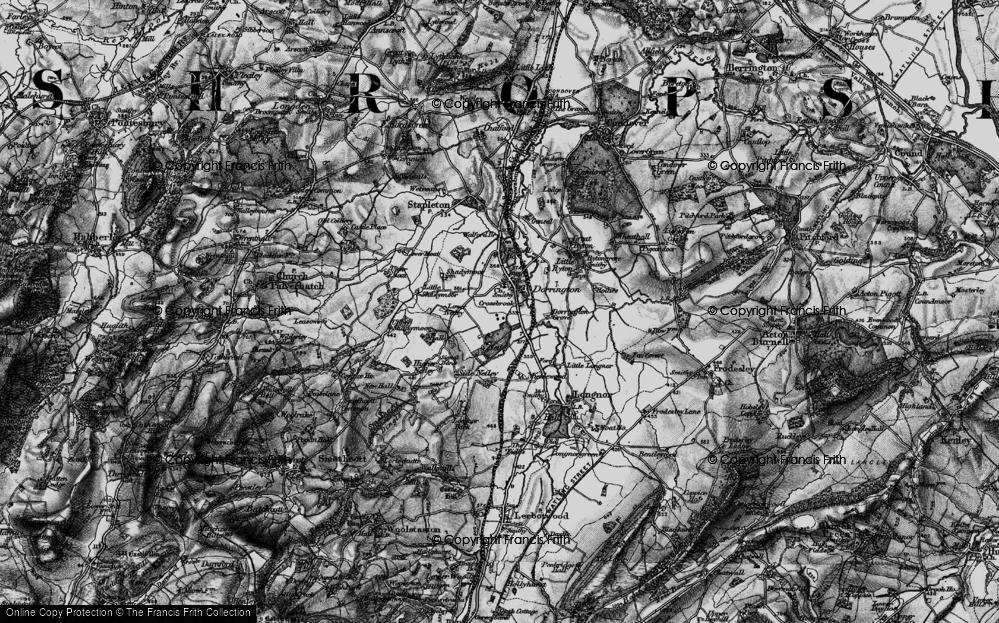 Old Map of Dorrington, 1899 in 1899