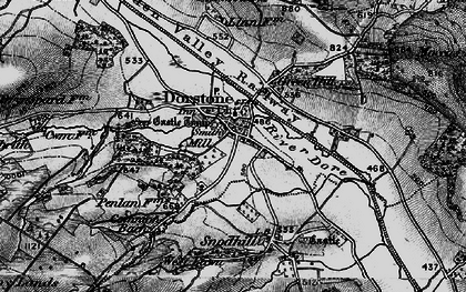 Old map of Arthur's Stone (Burial Chamber) in 1898