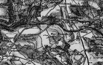 Old map of Doublebois in 1896