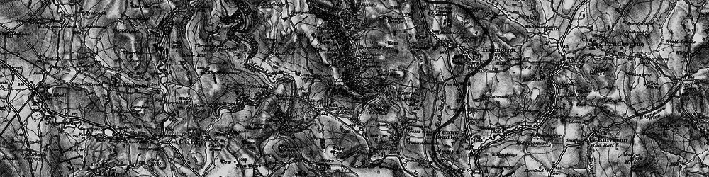 Old map of Dovedale in 1897