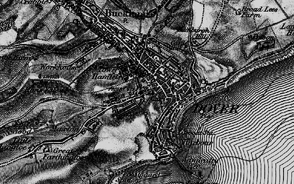 Old map of Dover in 1895