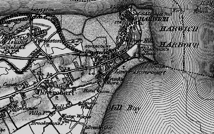 Old map of Dovercourt in 1896