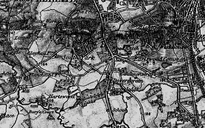 Old map of Doversgreen in 1896
