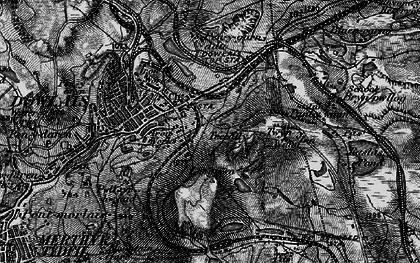 Old map of Twyn y Waun in 1898