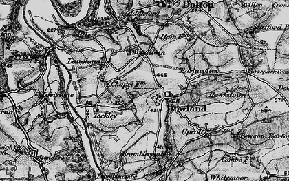 Old map of Woodtown in 1898