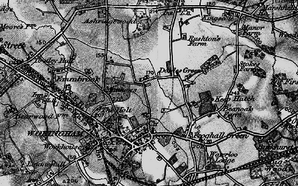 Old map of Ashridge Manor in 1895