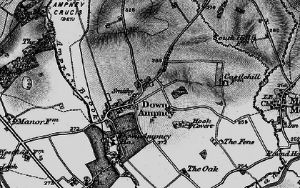 Old map of Down Ampney in 1896