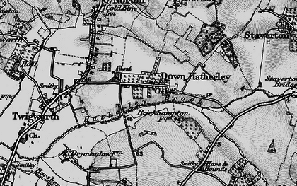 Old map of Down Hatherley in 1896