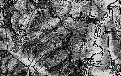 Old map of Willen Park in 1896