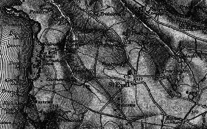 Old map of Downhill in 1895
