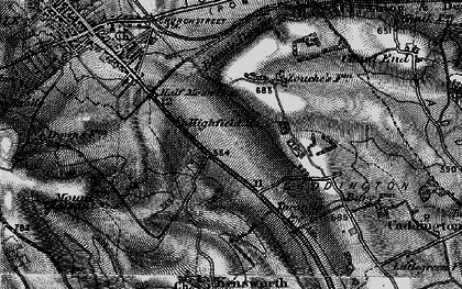 Old map of Downside in 1896