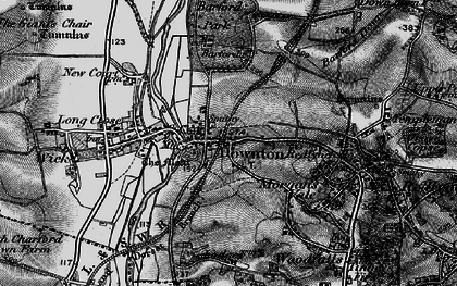 Old map of Downton in 1895