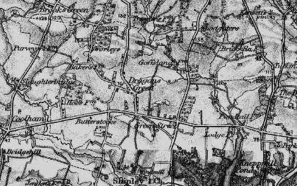 Old map of Woodgetters in 1895