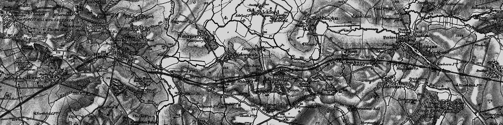 Old map of Albury in 1895