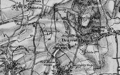 Old map of Draycot Cerne in 1898