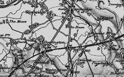 Old map of Draycott in 1897