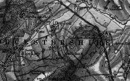 Old map of Draycott in 1898