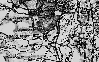 Old map of Drayton Bassett in 1899