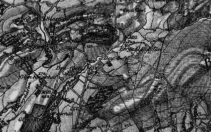Old map of Afon Llwchwr in 1898