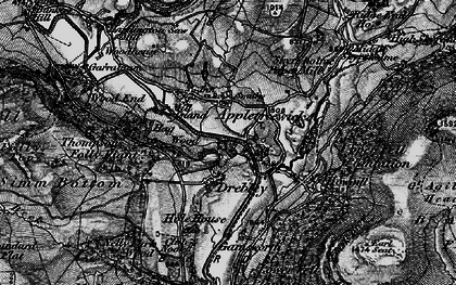 Old map of Barden Br in 1898