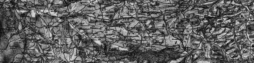 Old map of Whiddon Wood in 1898